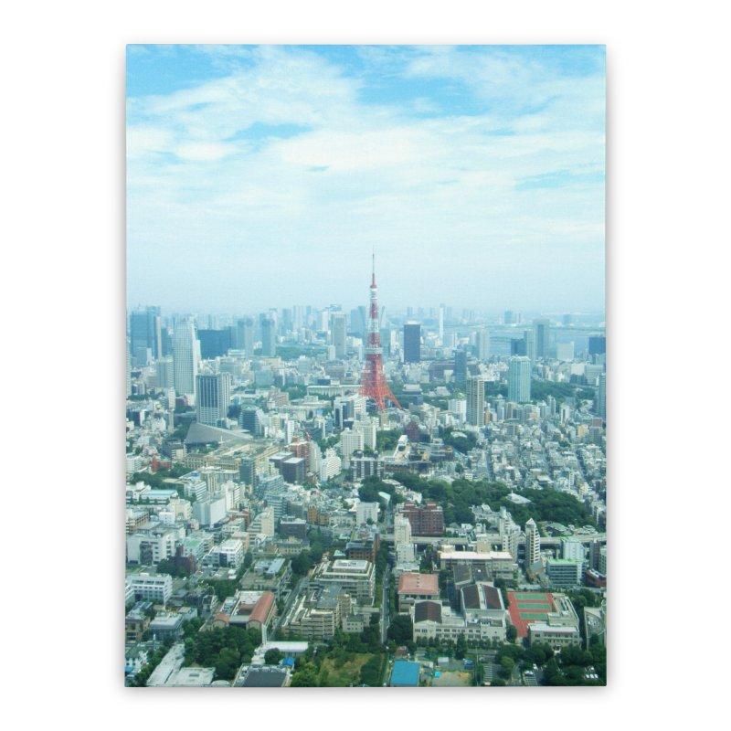 Tokyo Home Stretched Canvas by Katie Schutte Art