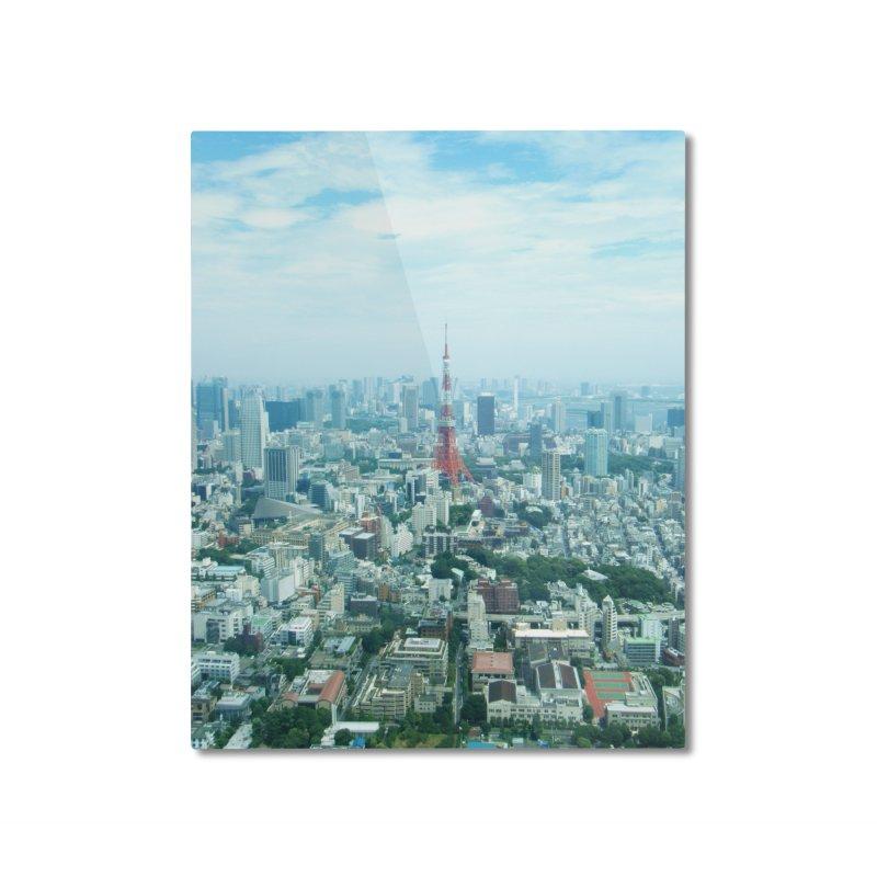 Tokyo Home Mounted Aluminum Print by Katie Schutte Art