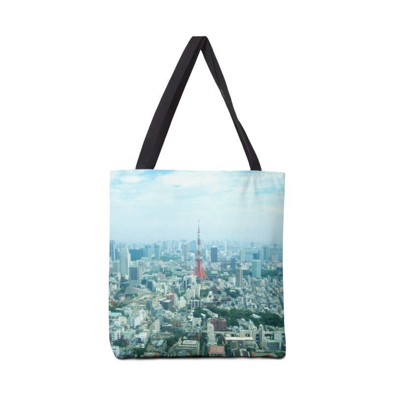 Tokyo Accessories Tote Bag Bag by Katie Schutte Art
