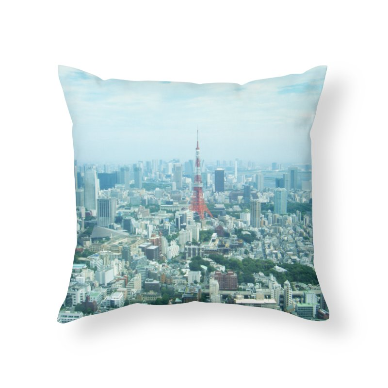 Tokyo Home Throw Pillow by Katie Schutte Art