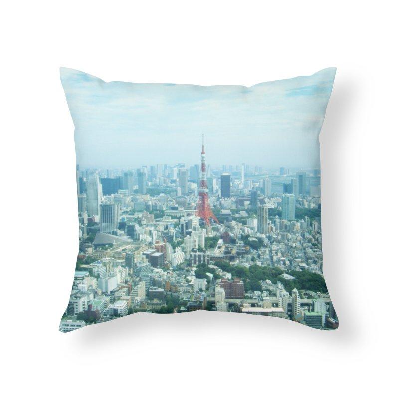 Tokyo Home Throw Pillow by Katie Schutte Art