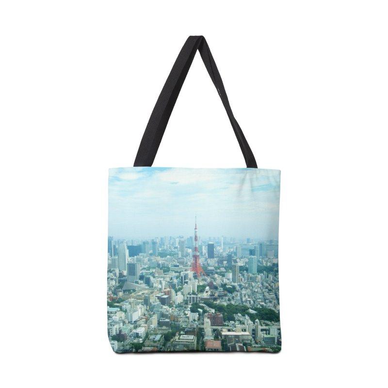 Tokyo Accessories Bag by Katie Schutte Art