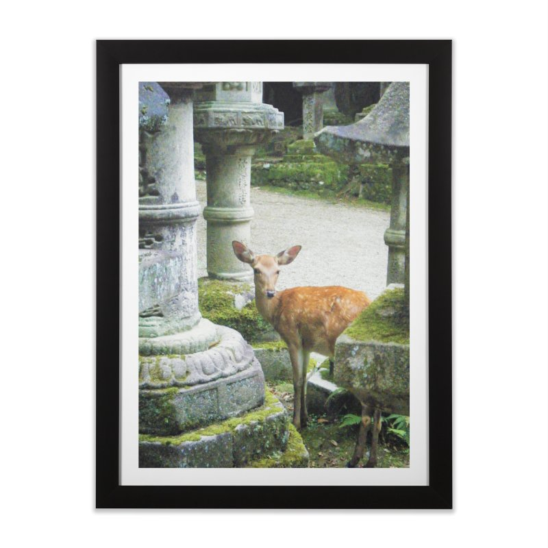 Nara 2 in Framed Fine Art Print Black by Katie Schutte Art