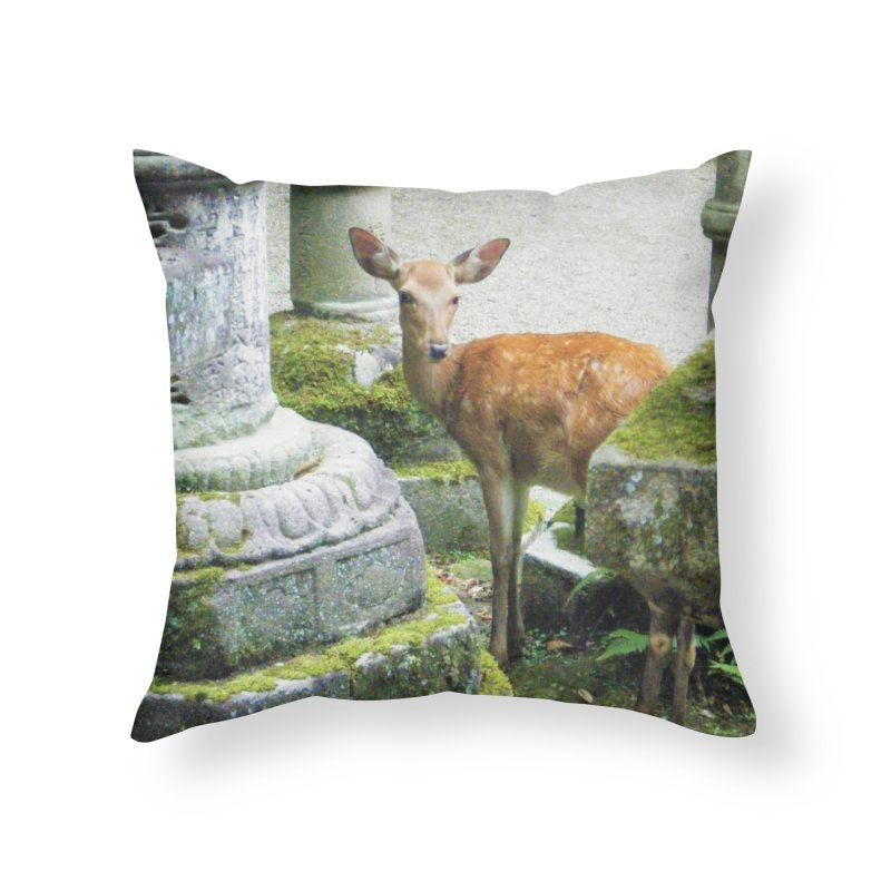 Nara 2 Home Throw Pillow by Katie Schutte Art