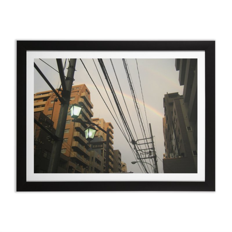 Rainbow Alley in Framed Fine Art Print Black by Katie Schutte Art