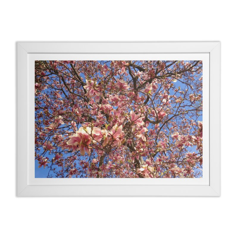 Spring Tree Home Framed Fine Art Print by Katie Schutte Art