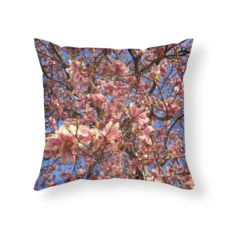 Spring Tree Home Throw Pillow by Katie Schutte Art