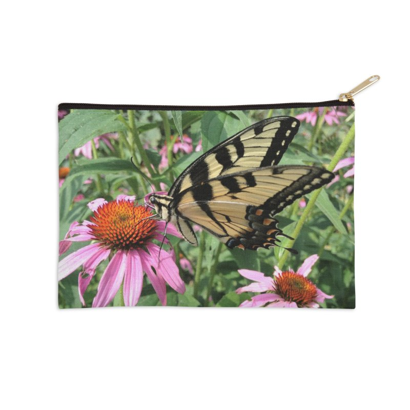 Butterfly Accessories Zip Pouch by Katie Schutte Art