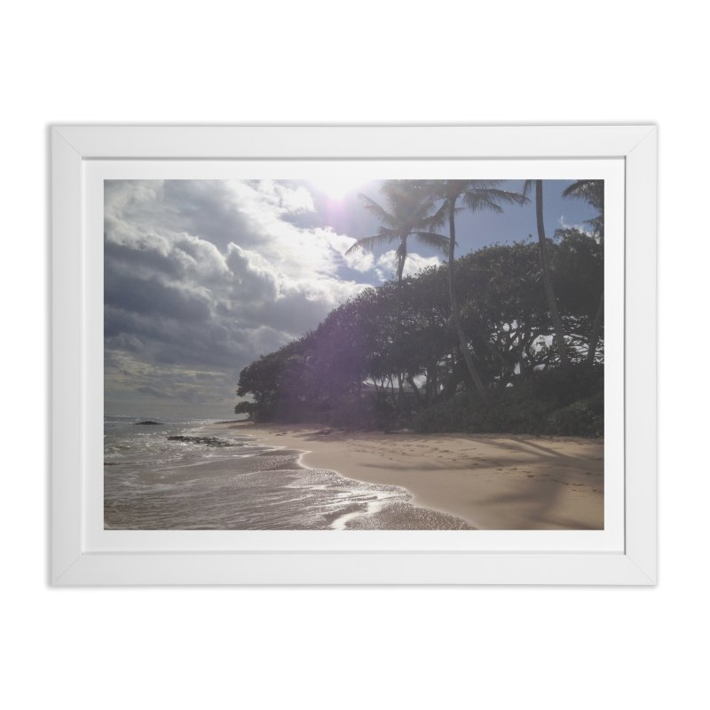 Shore Home Framed Fine Art Print by Katie Schutte Art