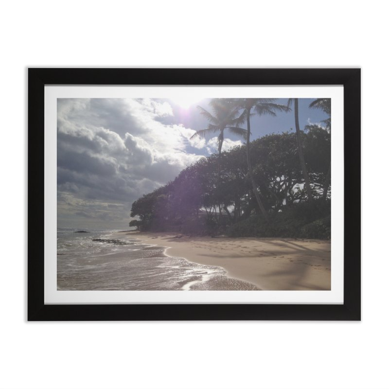 Shore in Framed Fine Art Print Black by Katie Schutte Art