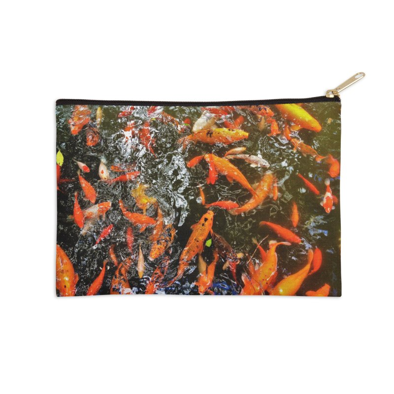 Koi Accessories Zip Pouch by Katie Schutte Art
