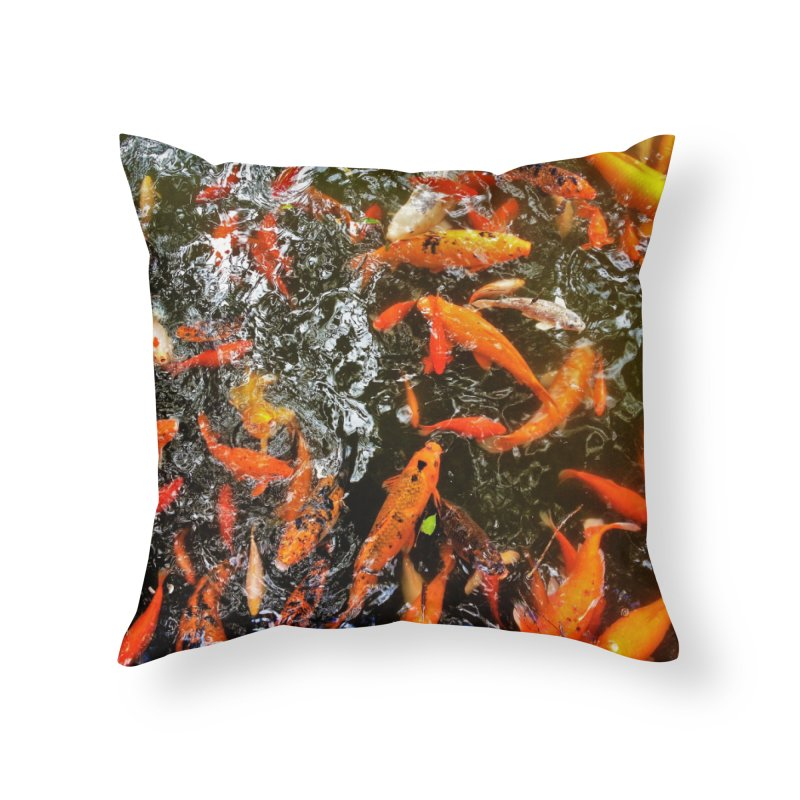 Koi Home Throw Pillow by Katie Schutte Art