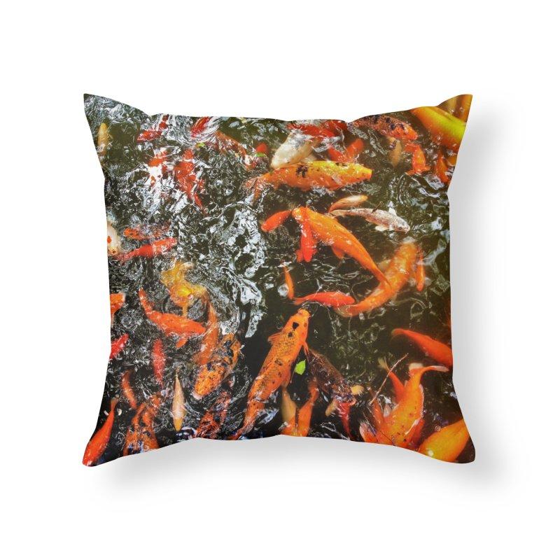 Koi Home Throw Pillow by Katie Schutte Art