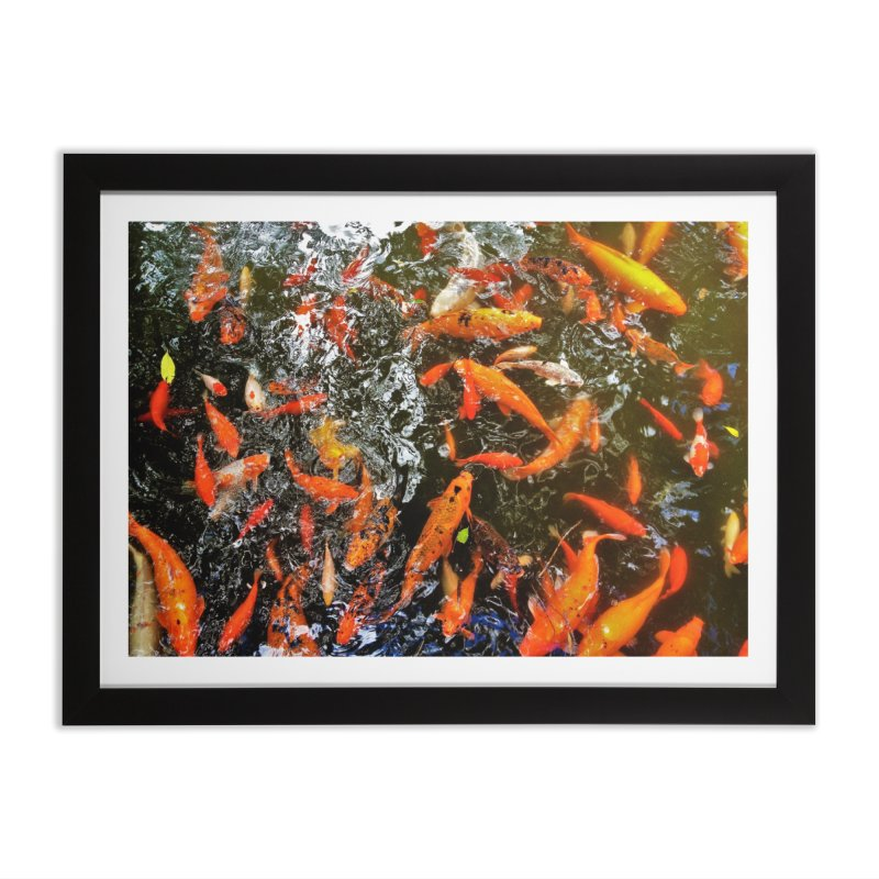 Koi in Framed Fine Art Print Black by Katie Schutte Art