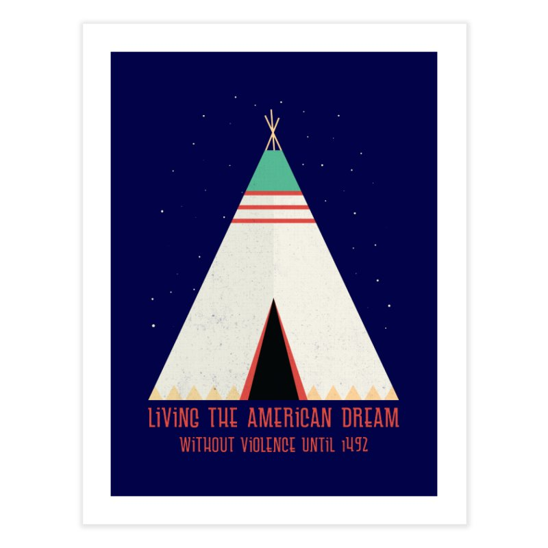 The American Nightmare Home Fine Art Print by KEIN DESIGN