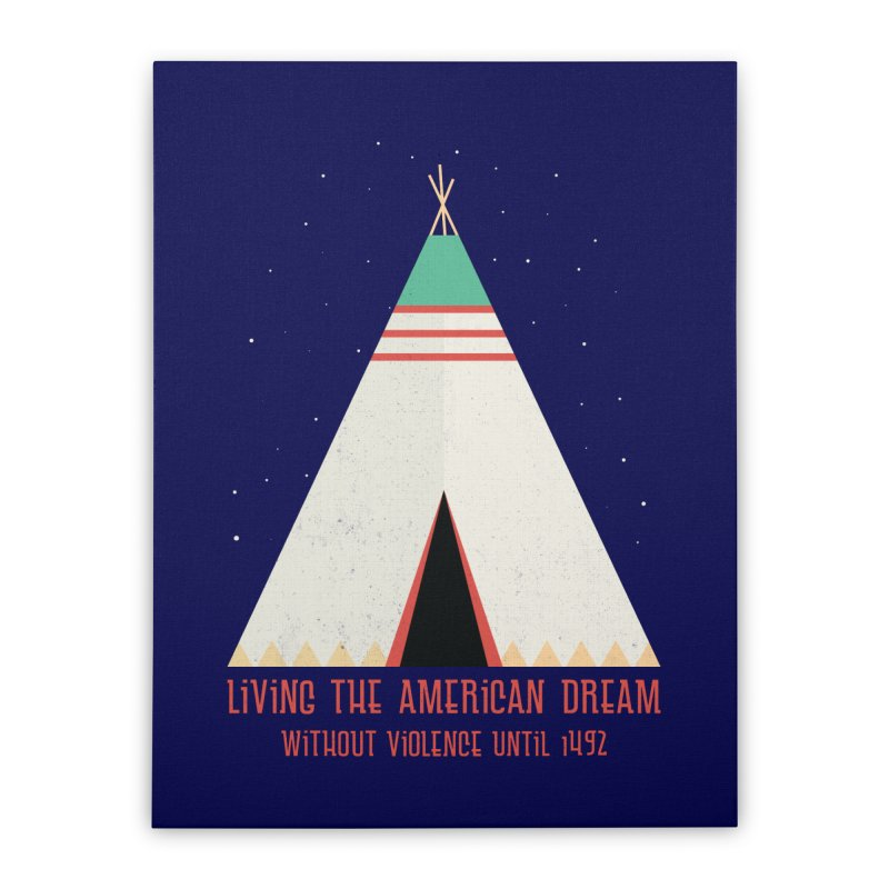 The American Nightmare Home Stretched Canvas by KEIN DESIGN