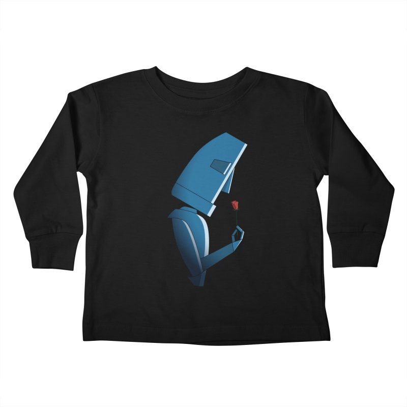 Tender Robot Kids Toddler Longsleeve T-Shirt by KEIN DESIGN