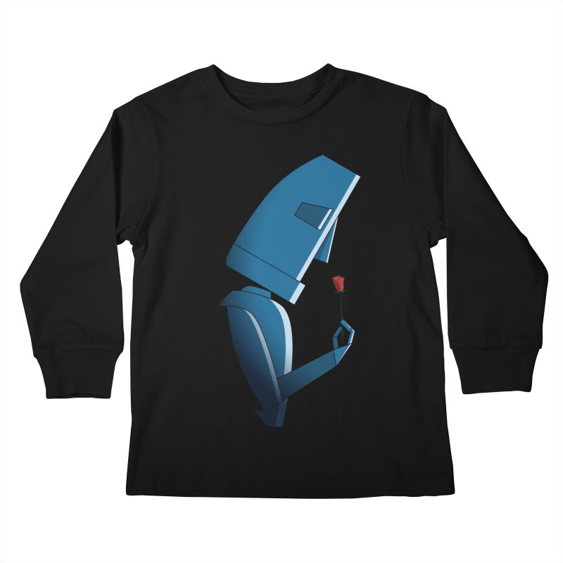 Tender Robot Kids Longsleeve T-Shirt by KEIN DESIGN