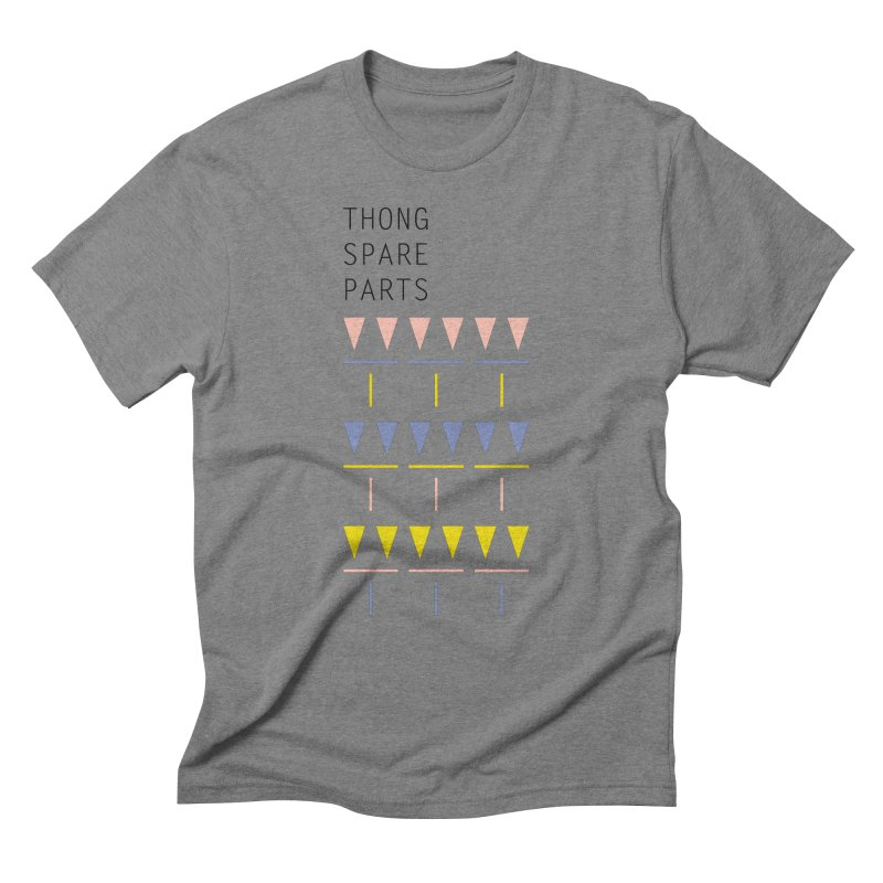 Thong Spare Parts Men's Triblend T-shirt by KEIN DESIGN