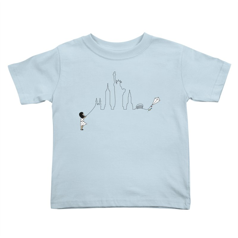 New York Kite Kids Toddler T-Shirt by KEIN DESIGN