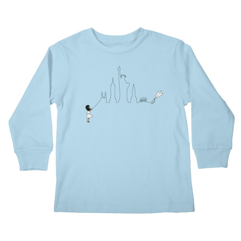 New York Kite Kids Longsleeve T-Shirt by KEIN DESIGN