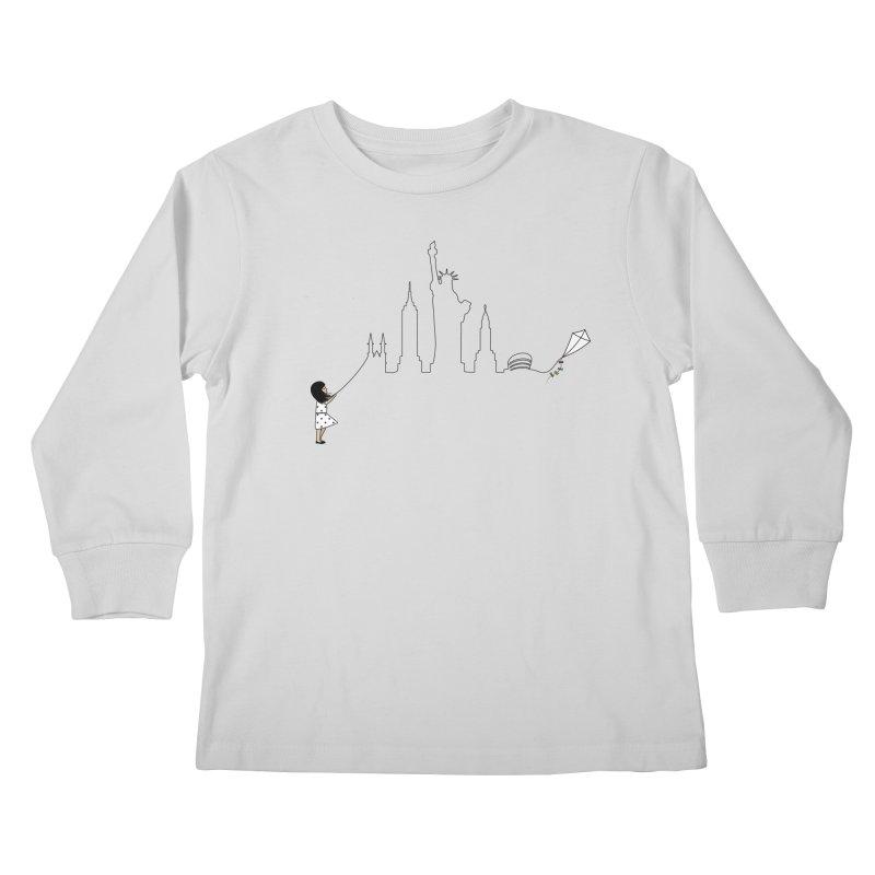 New York Kite Kids Longsleeve T-Shirt by KEIN DESIGN