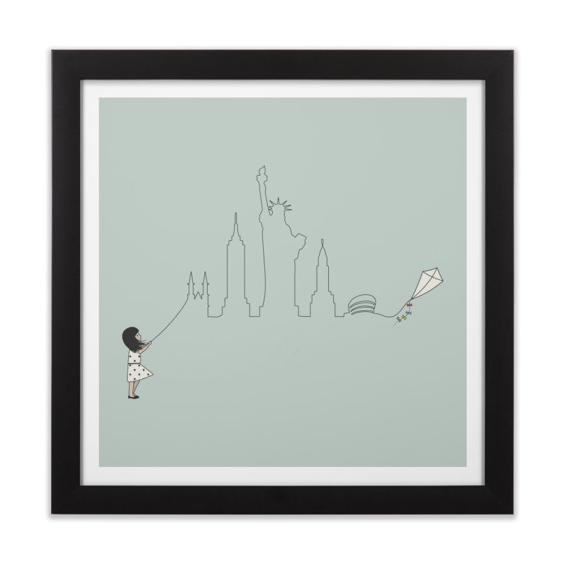 New York Kite Home Framed Fine Art Print by KEIN DESIGN