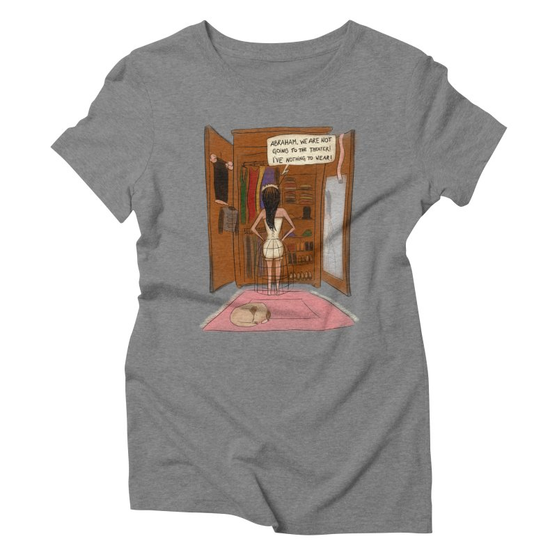 Last Night a Cupboard Saved Abraham's Life Women's Triblend T-shirt by KEIN DESIGN