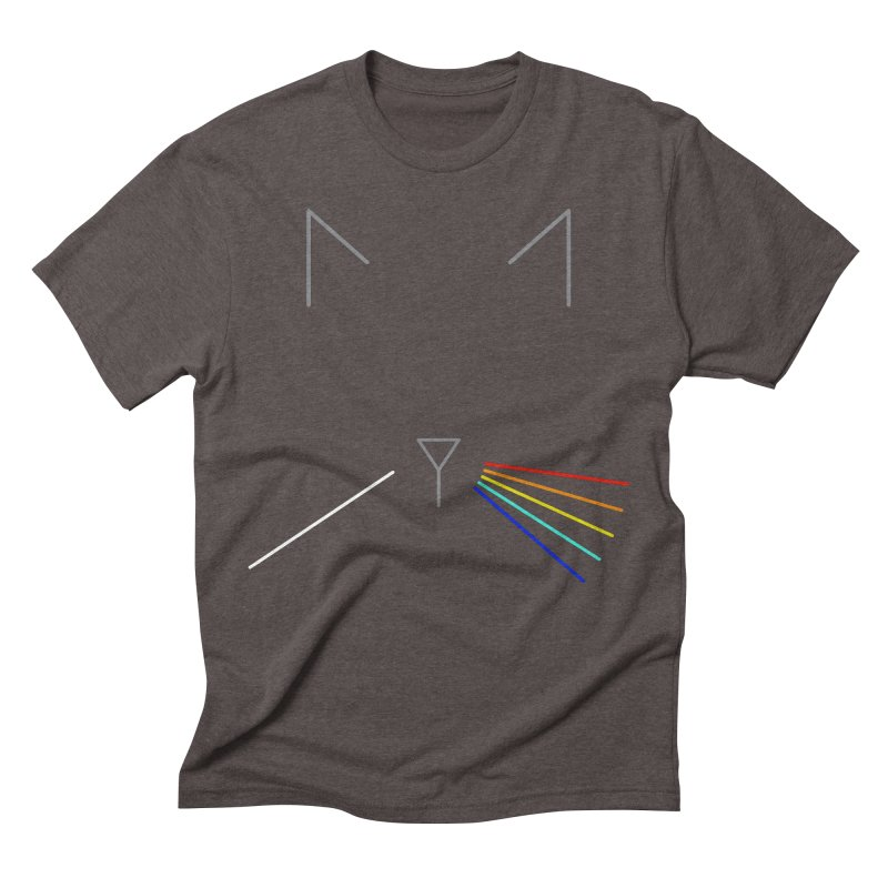 Dark Side of the Meow Men's Triblend T-Shirt by KEIN DESIGN