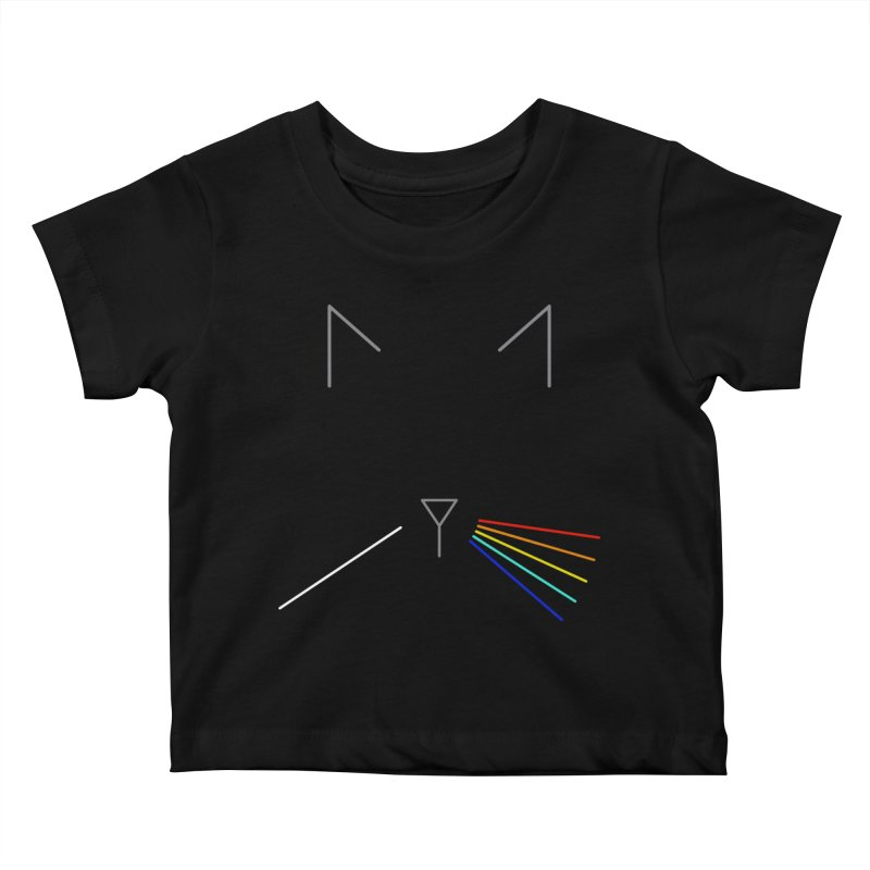 Dark Side of the Meow Kids Baby T-Shirt by KEIN DESIGN