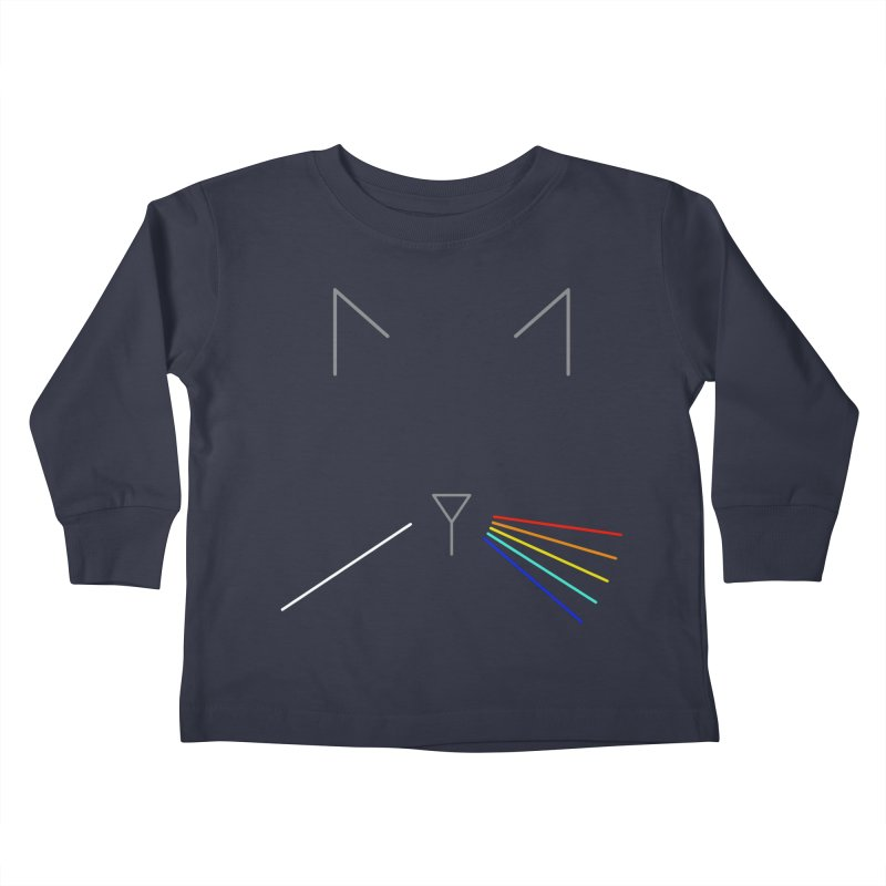 Dark Side of the Meow Kids Toddler Longsleeve T-Shirt by KEIN DESIGN