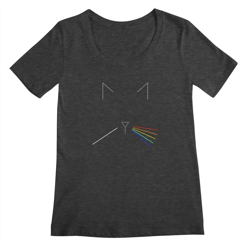 Dark Side of the Meow Women's Scoopneck by KEIN DESIGN