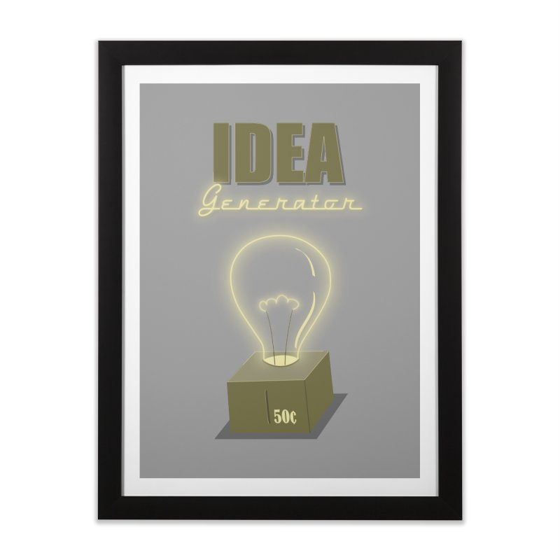 Idea Generator Home Framed Fine Art Print by KEIN DESIGN