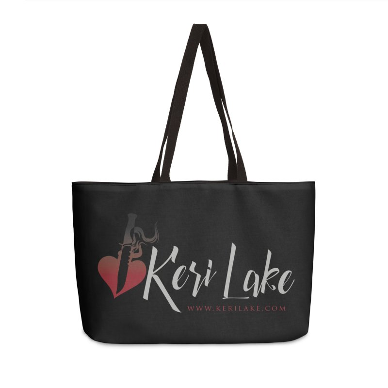 Keri Lake Logo - Gray Accessories Weekender Bag Bag by Keri Lake Author Shop