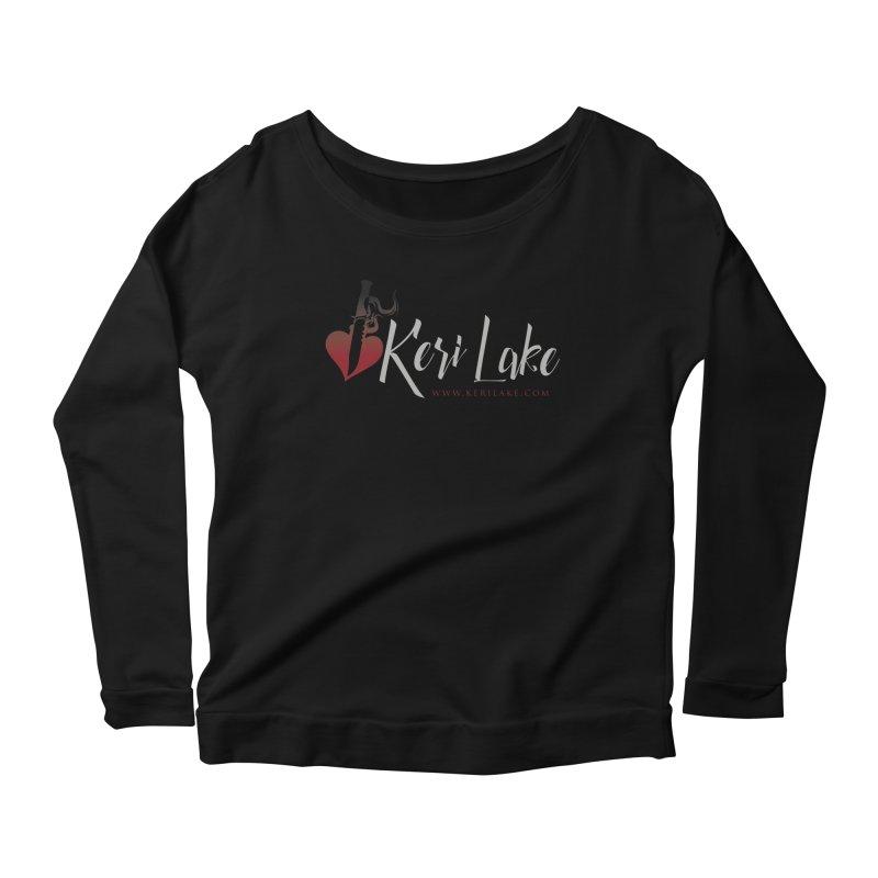 Keri Lake Logo - Gray Women's Scoop Neck Longsleeve T-Shirt by Keri Lake Author Shop