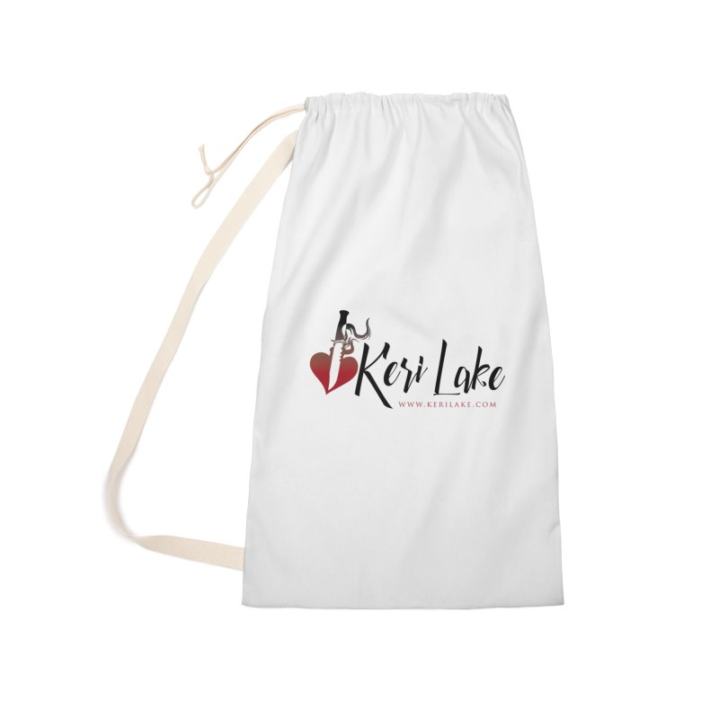 Keri Lake Logo - Black Accessories Laundry Bag Bag by Keri Lake Author Shop