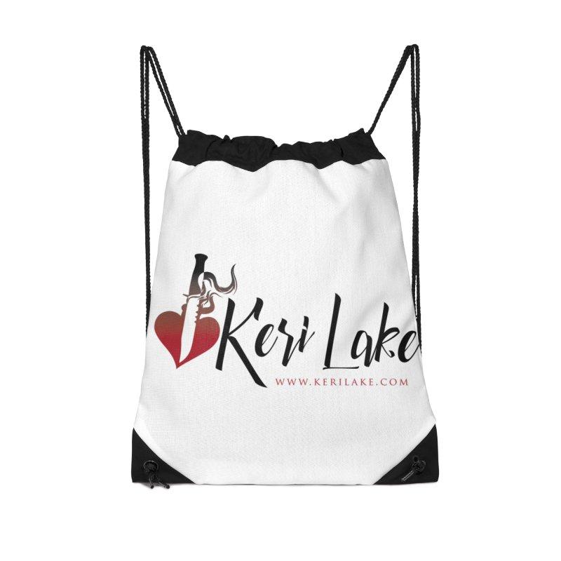 Keri Lake Logo - Black Accessories Drawstring Bag Bag by Keri Lake Author Shop