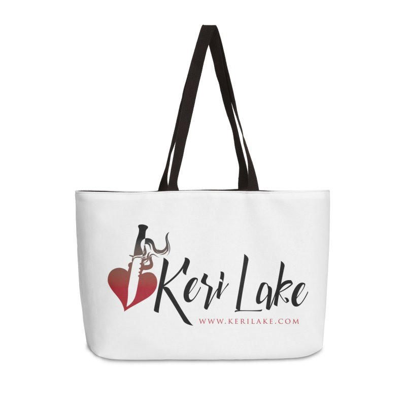 Keri Lake Logo - Black Accessories Weekender Bag Bag by Keri Lake Author Shop