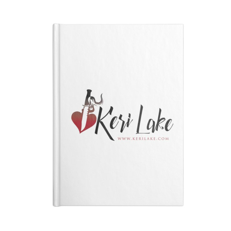 Keri Lake Logo - Black Accessories Lined Journal Notebook by Keri Lake Author Shop