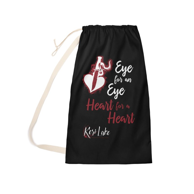 Eye For An Eye Accessories Laundry Bag Bag by Keri Lake Author Shop