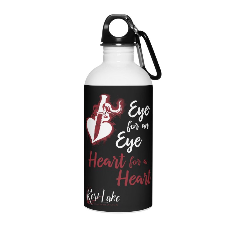 Eye For An Eye Accessories Water Bottle by Keri Lake Author Shop