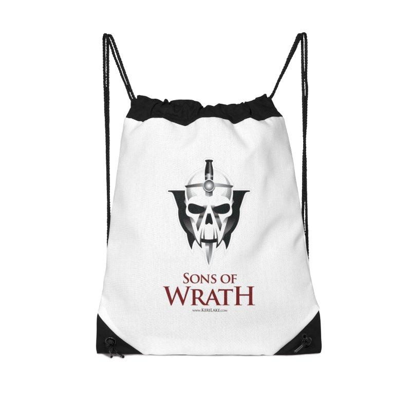 Sons Of Wrath Logo Accessories Drawstring Bag Bag by Keri Lake Author Shop