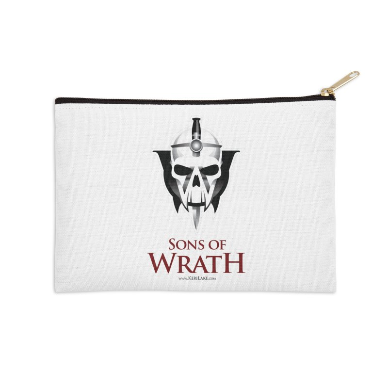 Sons Of Wrath Logo Accessories Zip Pouch by Keri Lake Author Shop