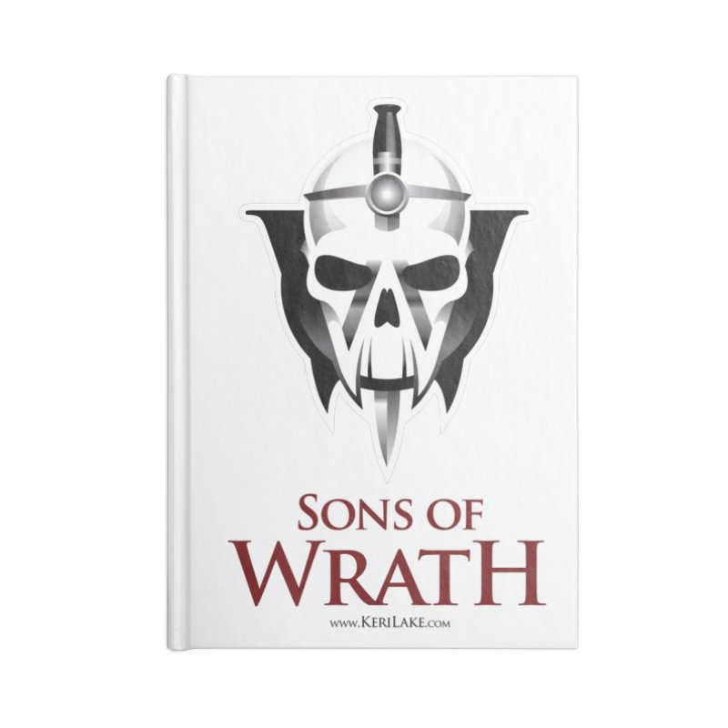 Sons Of Wrath Logo Accessories Lined Journal Notebook by Keri Lake Author Shop