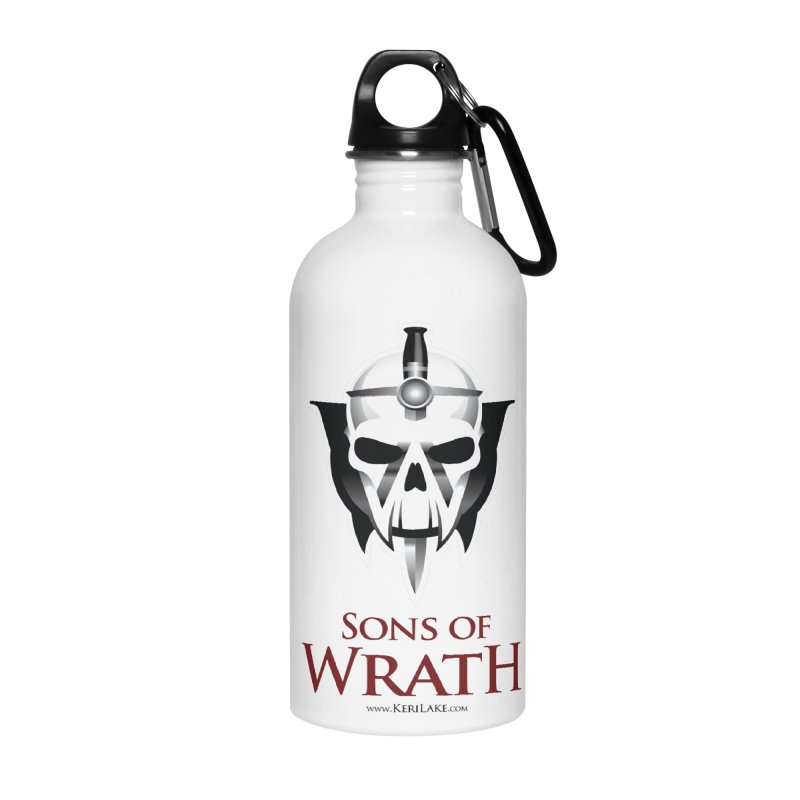 Sons Of Wrath Logo Accessories Water Bottle by Keri Lake Author Shop
