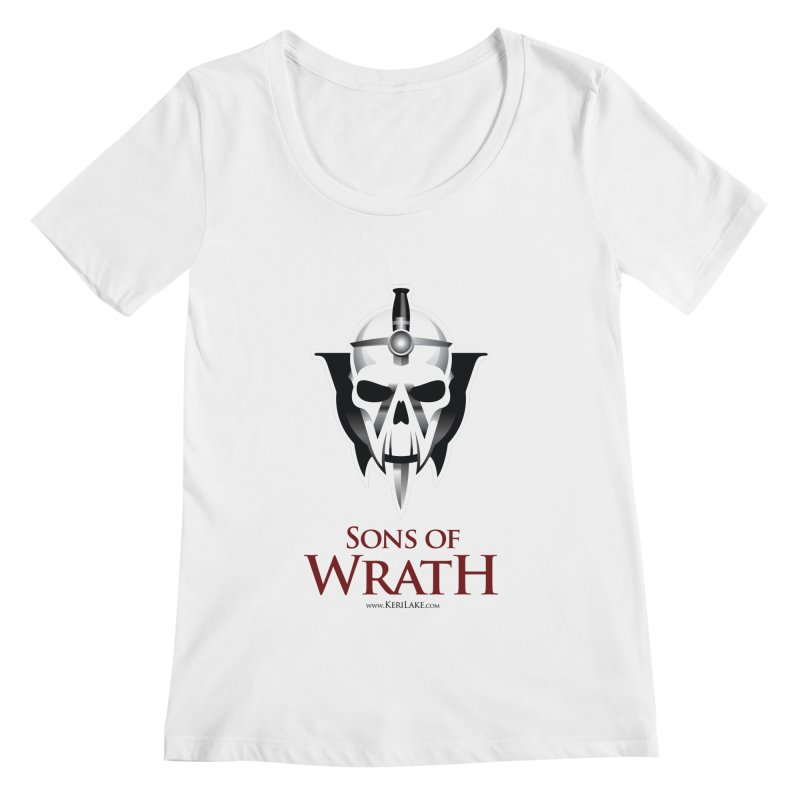 Sons Of Wrath Logo Women's Regular Scoop Neck by Keri Lake Author Shop