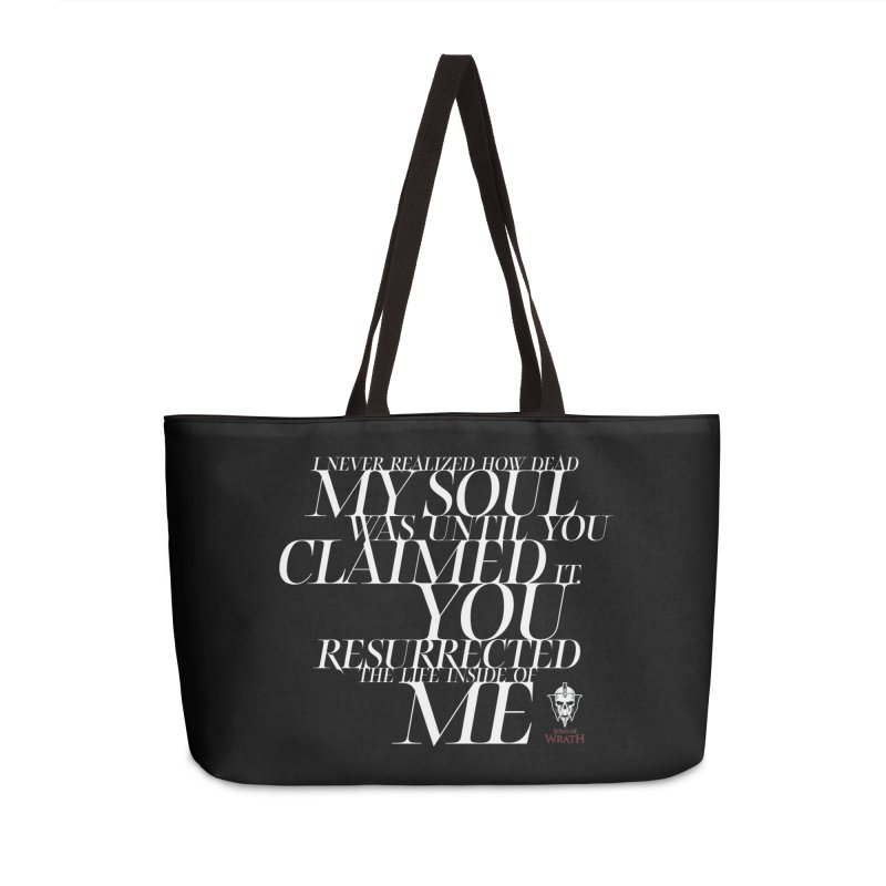 Soul Resurrected Quote - White Accessories Weekender Bag Bag by Keri Lake Author Shop