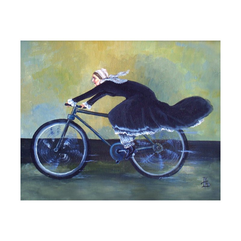 Whistler's Mother (On a bike) by Kerian's Art Shoppe