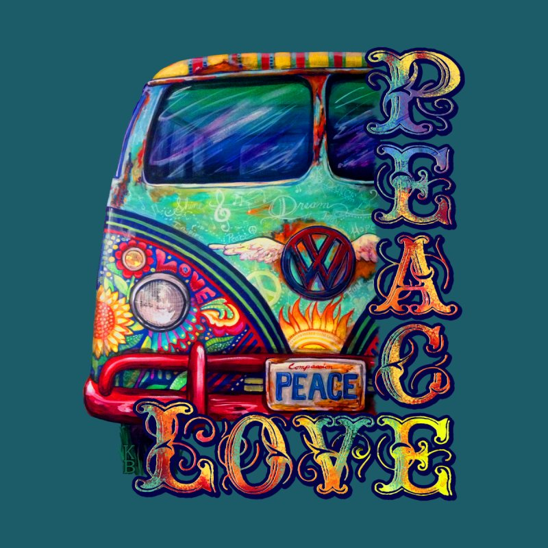 Peacemobile- Peace and Love by Kerian's Art Shoppe