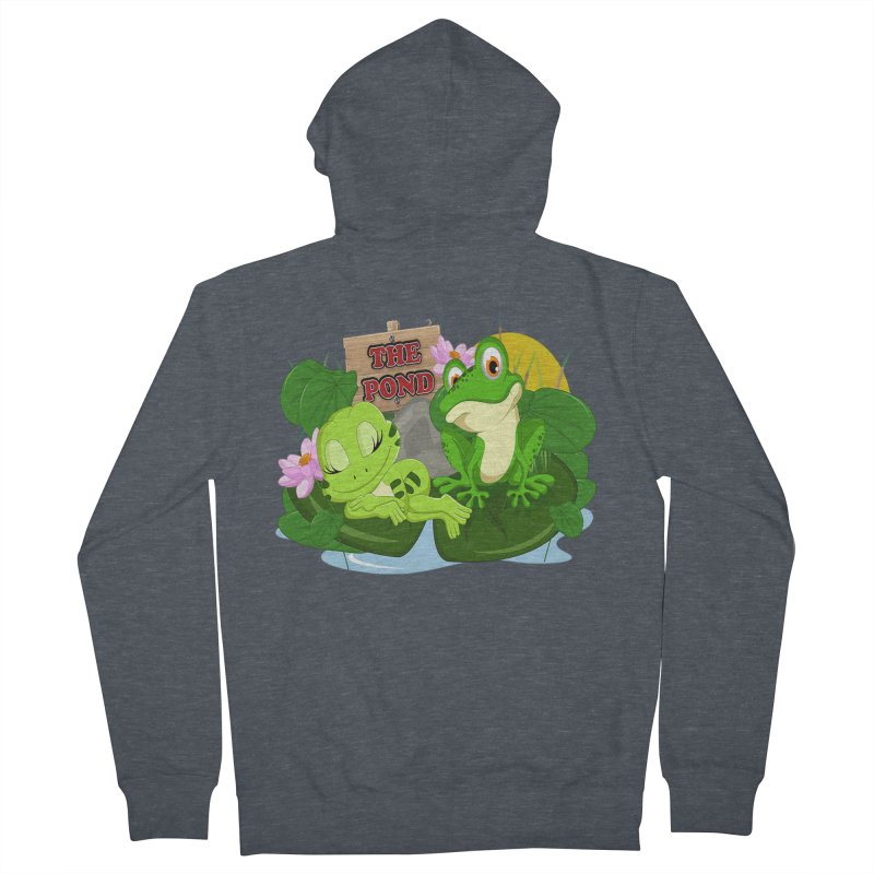 The Pond Official Logo by Kells Men's Zip-Up Hoody by Kerminator Official Merchandise